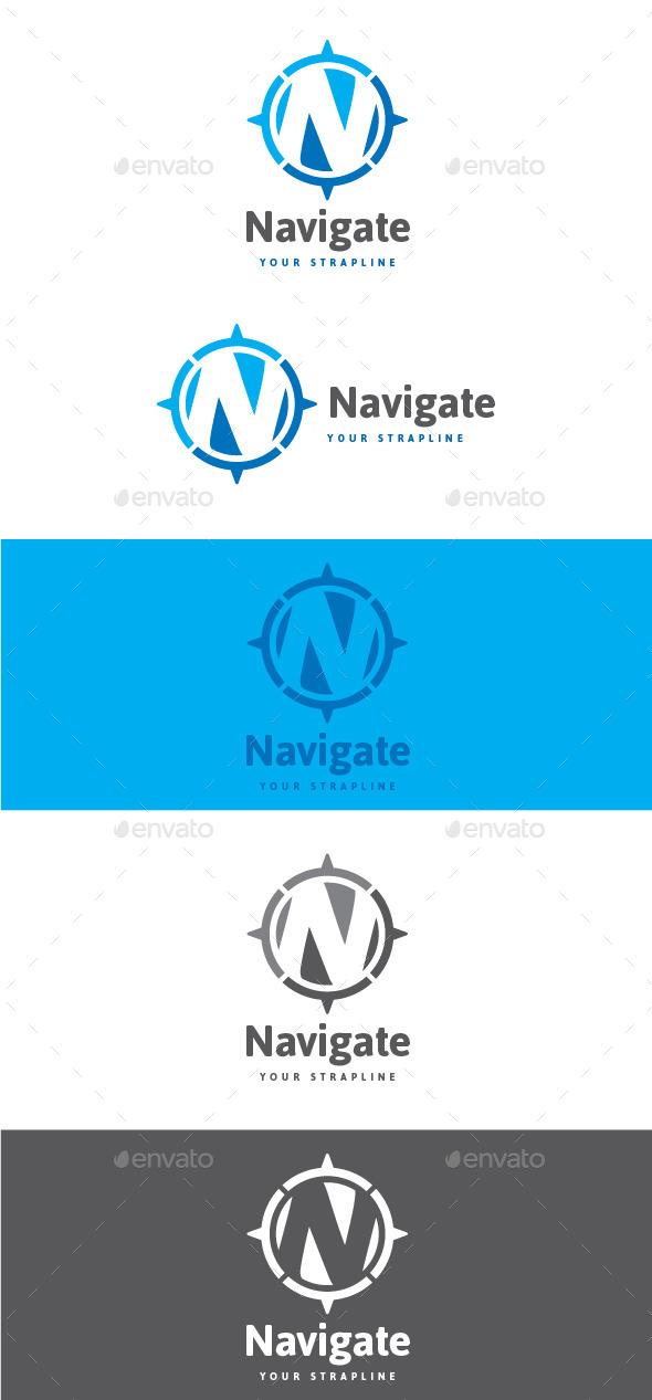 GraphicRiver Navigate Letter N Logo 9056876