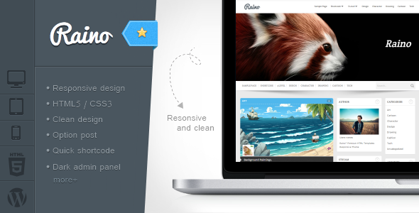 Raino - Clean Blog and Portfolio Resonsive