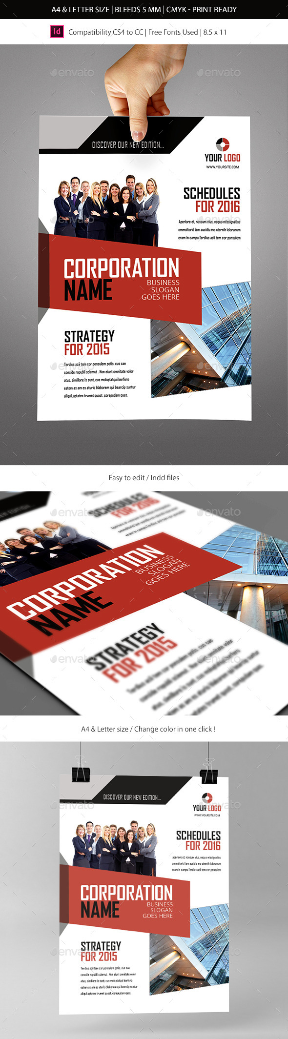 GraphicRiver Corporate & Business Commerce Flyer Template 9057051