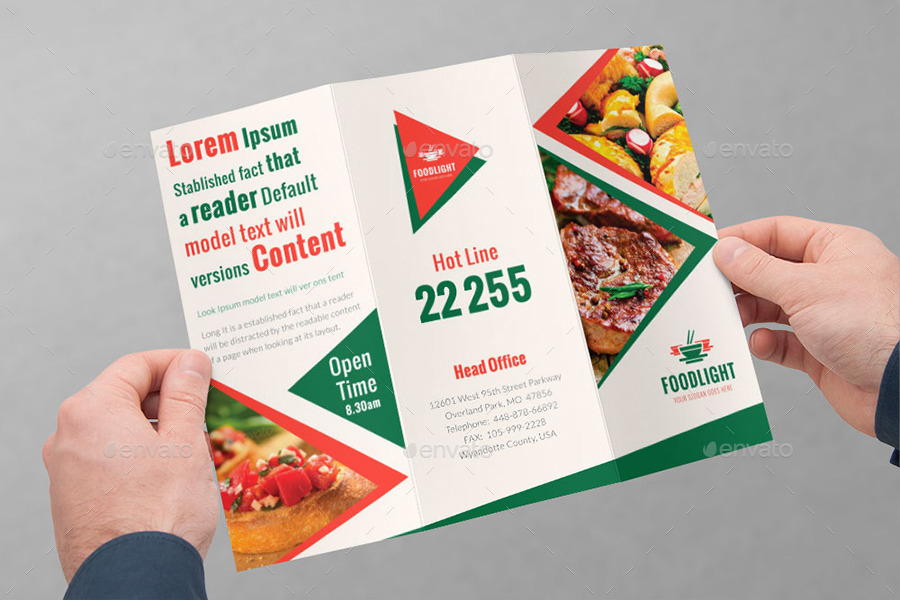 restaurant tri fold brochure bundle volume 5 by dotnpix
