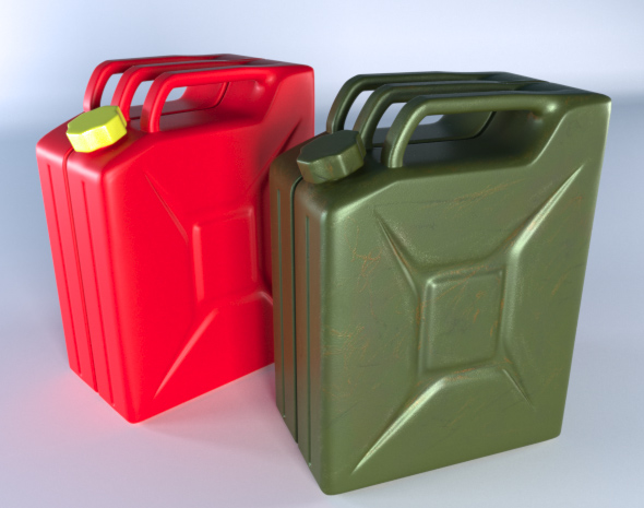 Petrol canister - 3DOcean Item for Sale