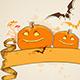 Pumpkins and Vintage Banner - GraphicRiver Item for Sale