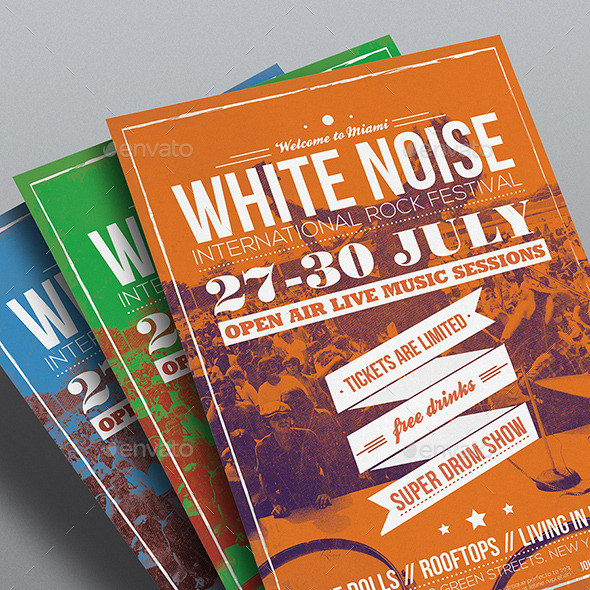 GraphicRiver Vintage Music Poster Flyer 9001203