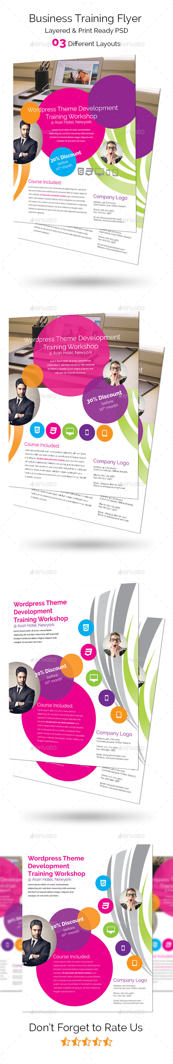 GraphicRiver Business Training Flyer 9010001