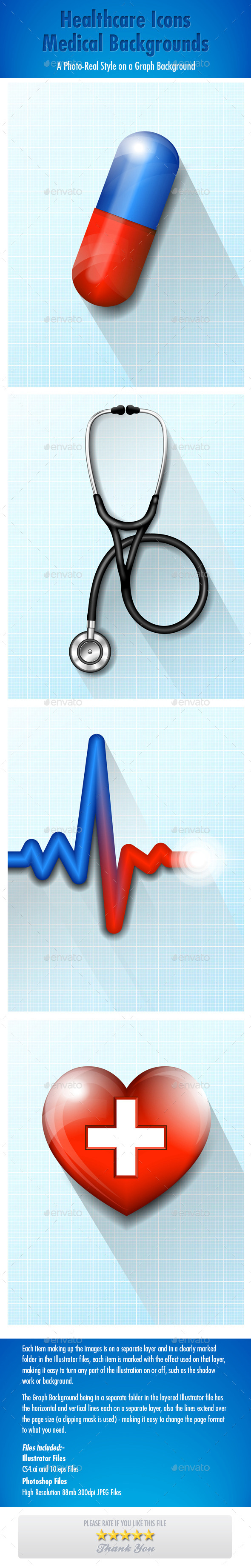 GraphicRiver Healthcare Icons Medical Backgrounds 9057509