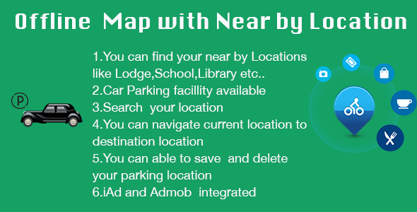 CodeCanyon Offline Map and Near By Location with iAd and Admob 8981768