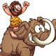 Caveman Riding a Mammoth - GraphicRiver Item for Sale