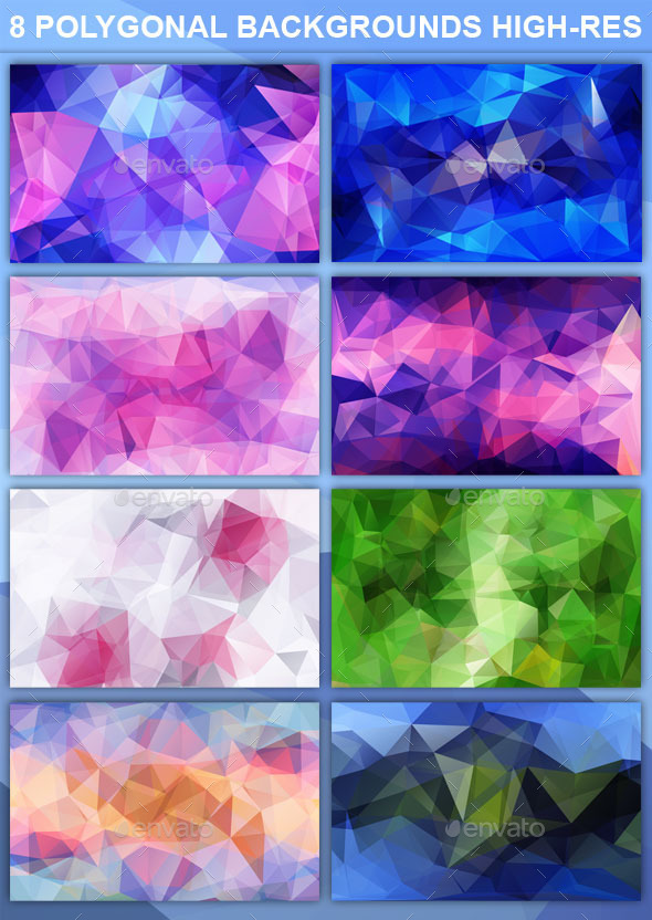 GraphicRiver Super Polygonal Backgrounds High Resolution 9059080