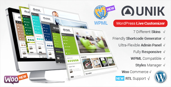 Unik - Ultra-Customizable WordPress Theme - Business Corporate