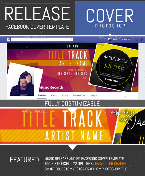GraphicRiver Dj Release Facebook Timeline Cover Template 9059401