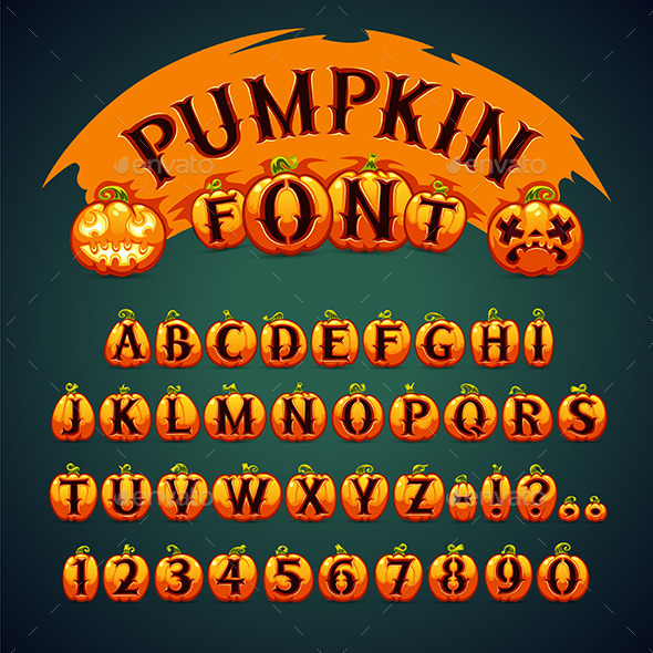 GraphicRiver Halloween Pumpkin Font 9055711