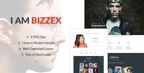 Bizzex - Modern Flat Portfolio Theme Download