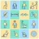 Disabled Icons Set Flat Line - GraphicRiver Item for Sale