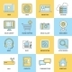 Internet Icons Flat Line - GraphicRiver Item for Sale