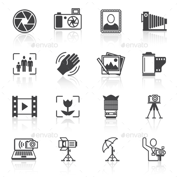 GraphicRiver Photography Icons Black 9059465