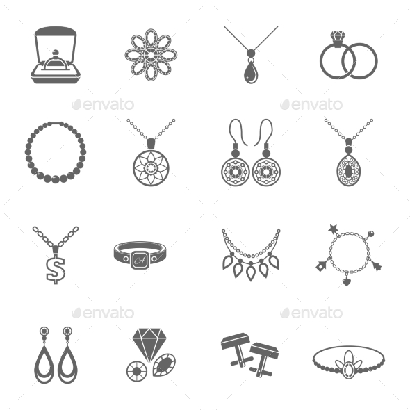 GraphicRiver Jewelry Icon Black 9059478