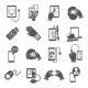 Mobile Health Icons Set Black - GraphicRiver Item for Sale