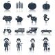 Farm Icons Set Black - GraphicRiver Item for Sale