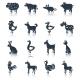 Farm animals set black - GraphicRiver Item for Sale