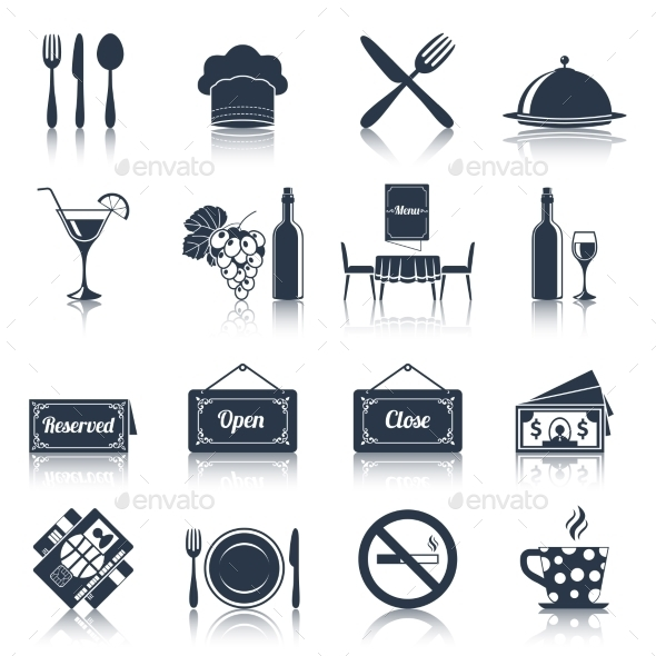 GraphicRiver Restaurant Icons Set 9059491