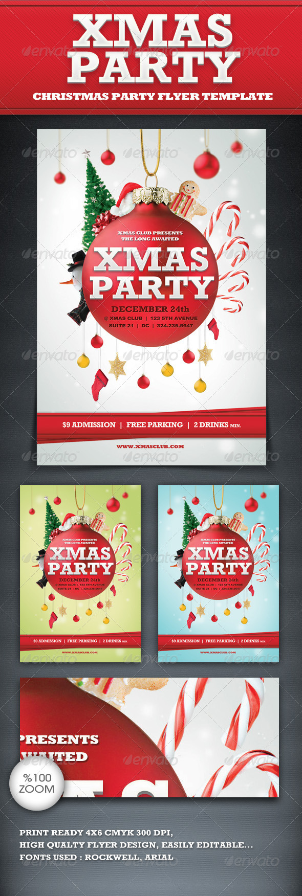Graphic River Xmas Party Flyer Template Print Templates -  Flyers  Events  Clubs & Parties 916962