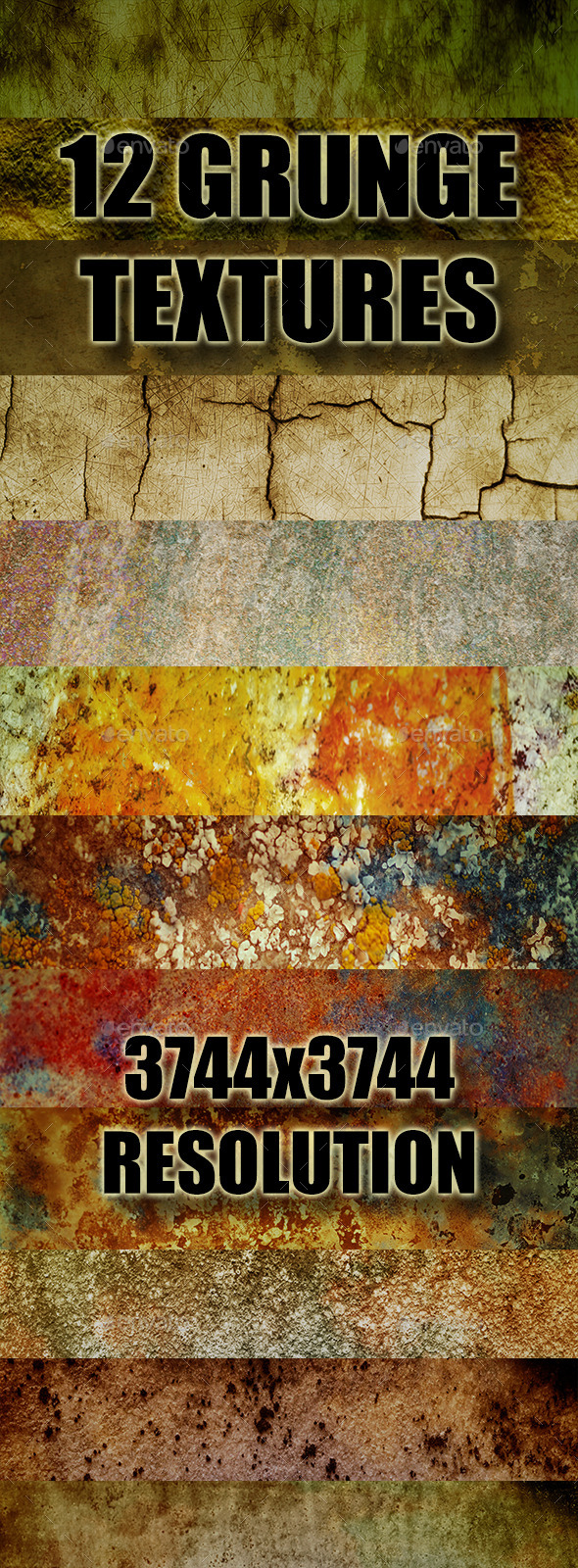 GraphicRiver Grunge Texture Pack 1 9059577