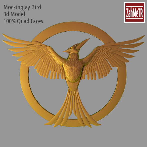 3DOcean Mockingjay Bird 3D Model Hunger Games 9059666