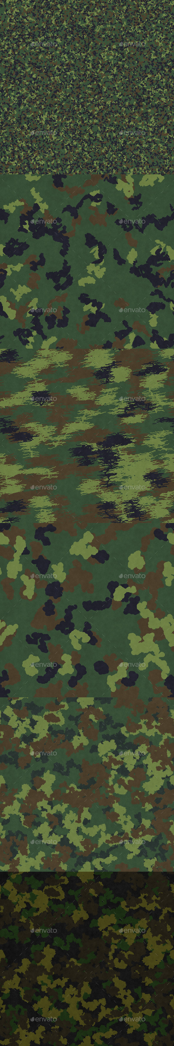 Camouflage textures - 3DOcean Item for Sale