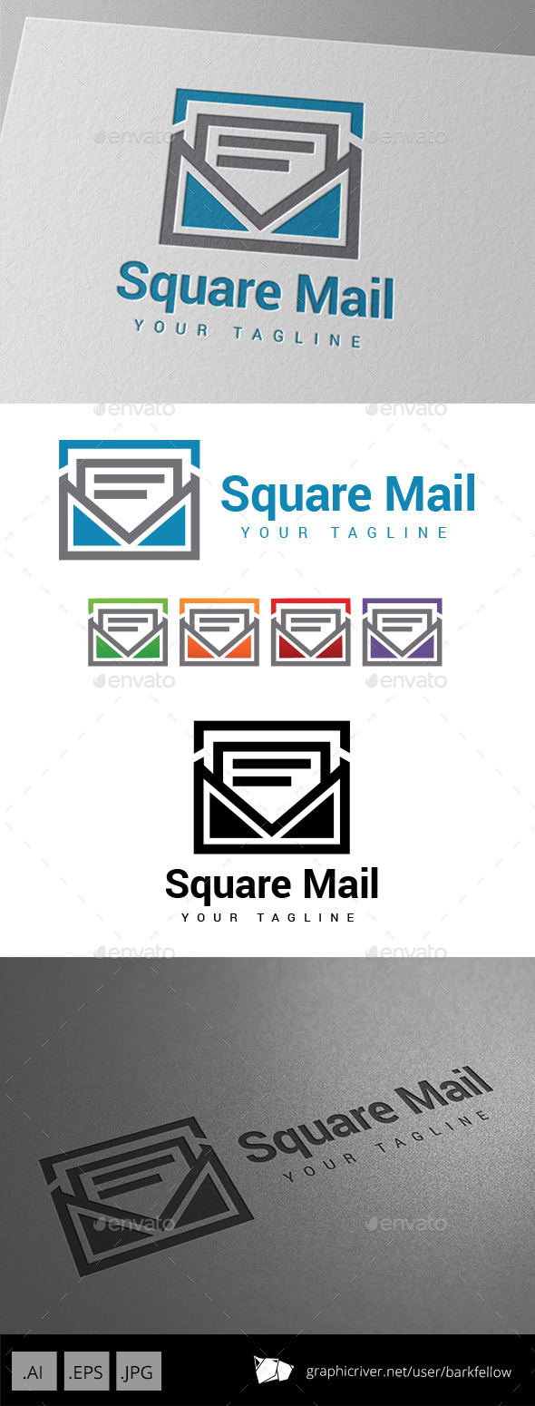 GraphicRiver Square Mail Logo 9059694
