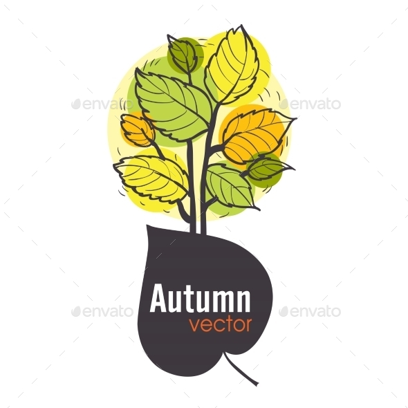 GraphicRiver Autumn Tree Background 9059802