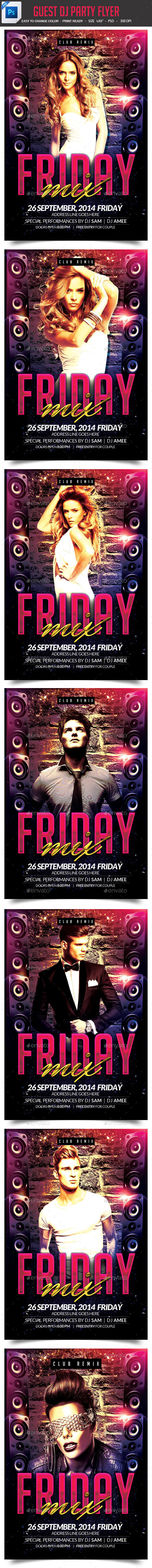 GraphicRiver Guest DJ Party Flyer 9013094