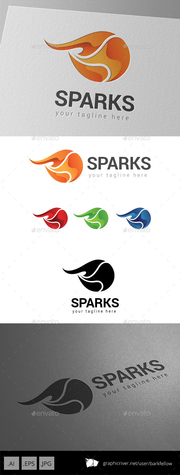 GraphicRiver Fire Sparks Logo 9059830