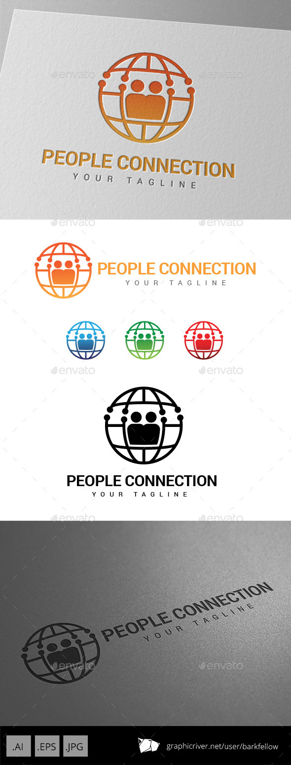 GraphicRiver People World Connection Logo 9059974