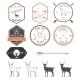 Set of Vintage Deer Icons, Emblems and Labels - GraphicRiver Item for Sale