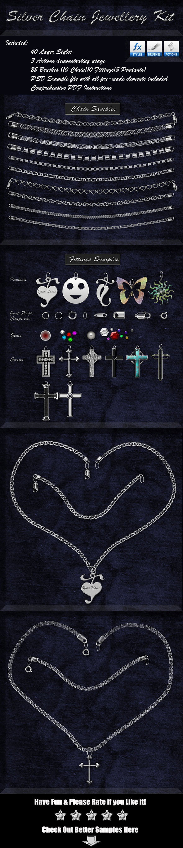 GraphicRiver Silver Chain Jewellery Kit 9060085