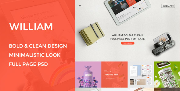 ThemeForest William Agency Portfolio & Photography 9060101