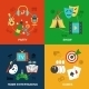 Entertainments Icons Flat - GraphicRiver Item for Sale