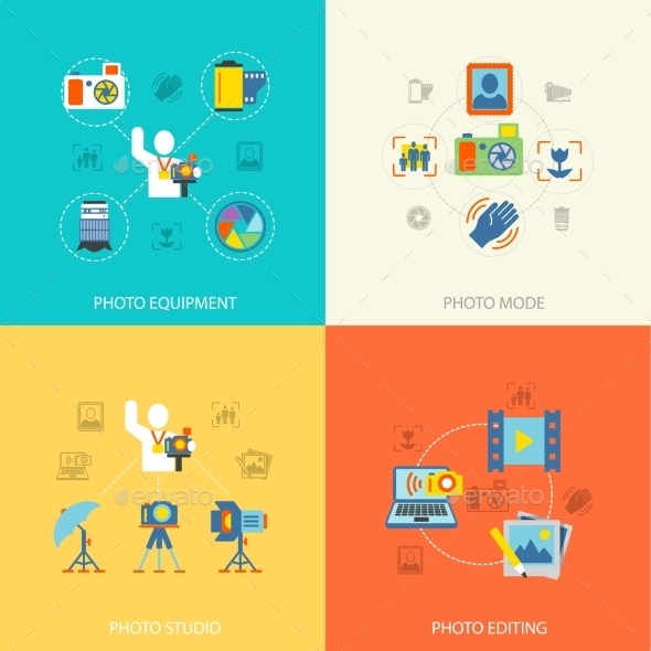 GraphicRiver Photography Icons Flat 9060117