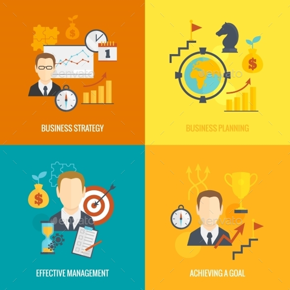 GraphicRiver Business Strategy Planning Icon Flat 9060126