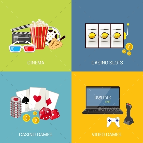 GraphicRiver Games Flat Set 9060127