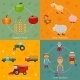 Farm Icons Set Flat - GraphicRiver Item for Sale