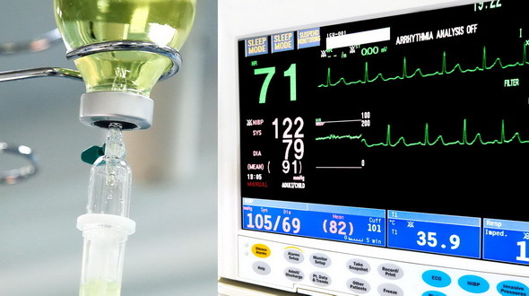 Intravenous Drip with ECG Monitor
