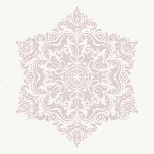 GraphicRiver Orient Vector Ornamental Round Lace 9060312