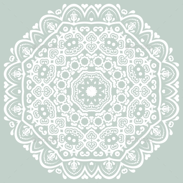 GraphicRiver Orient Vector Ornamental Round Lace 9060382
