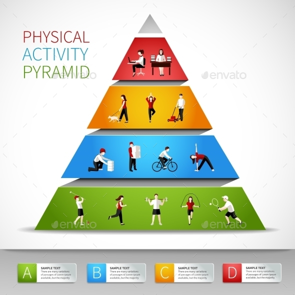 GraphicRiver Physical Activity Pyramid Infographic 9060500