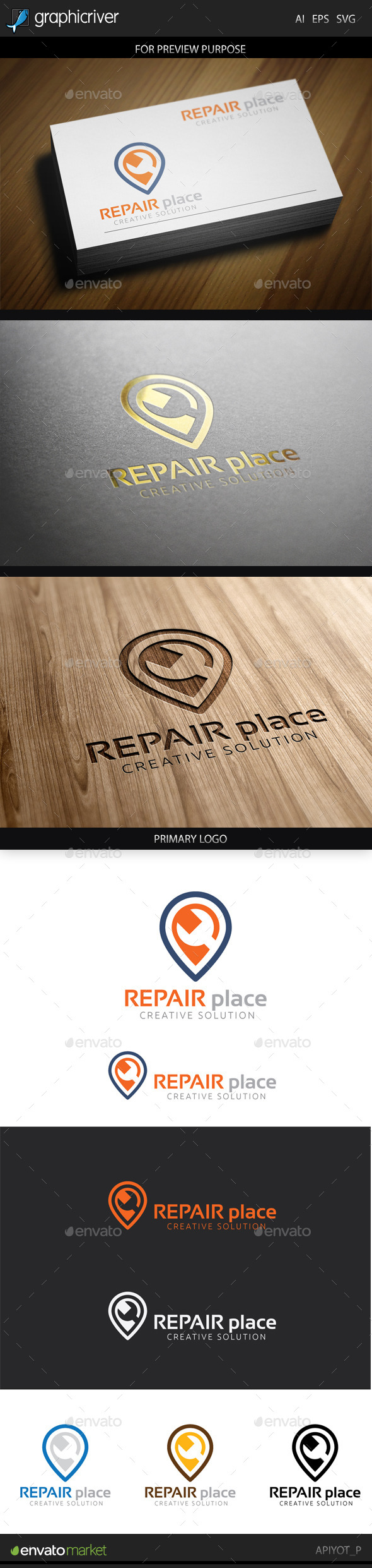GraphicRiver Repair Place Logo 9060527