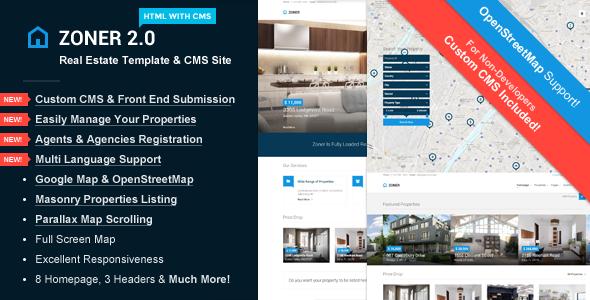 Zoner - Real Estate HTML Template & Custom CMS - Business Corporate