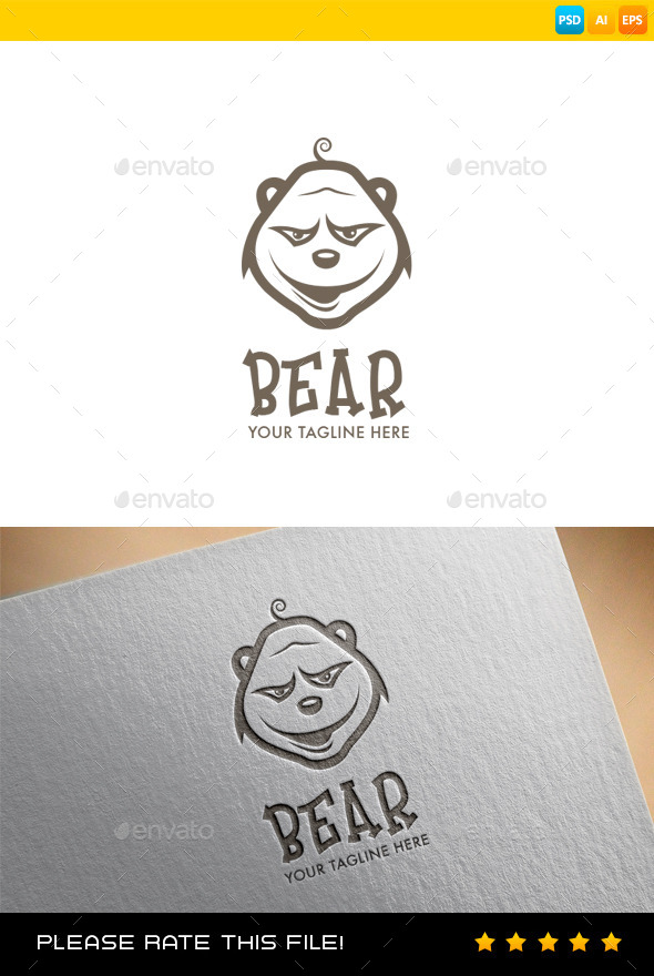 GraphicRiver Bear Logo 9060665