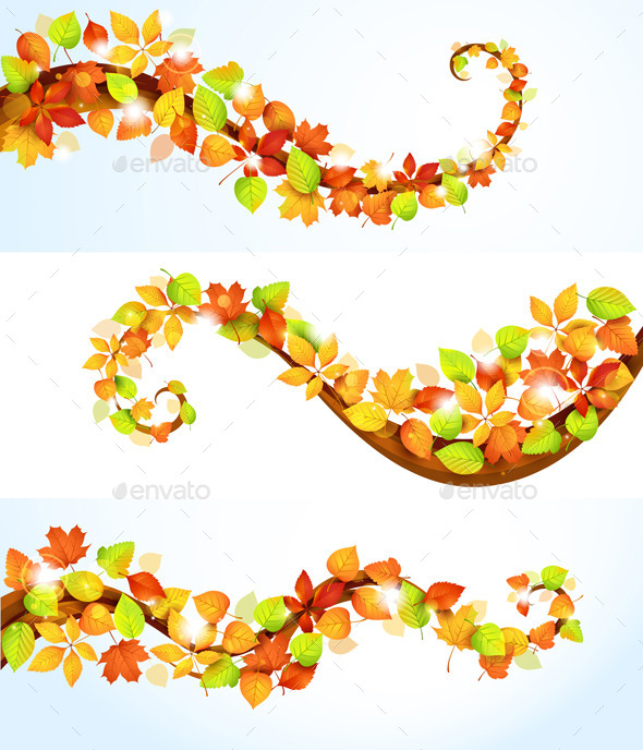 GraphicRiver Collection of Autumn Leaves 9061029