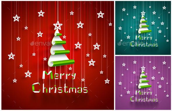 GraphicRiver Christmas Trees 9061040